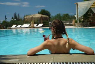 pool corfu spiti nikos swim