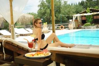 pool corfu spiti nikos tourist